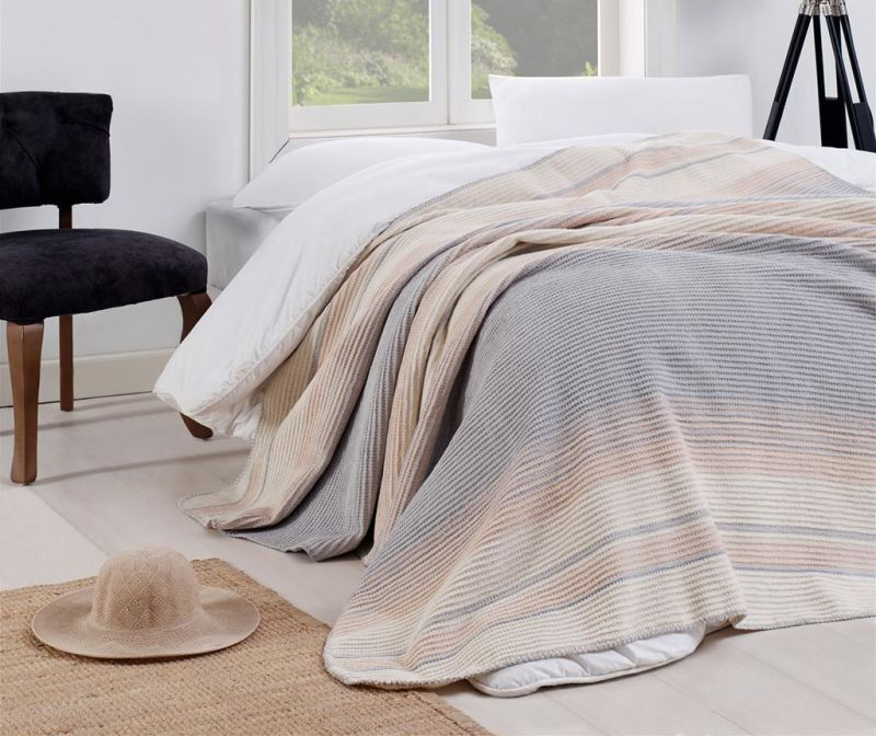 Odeja Stripe Grey 180x220 cm