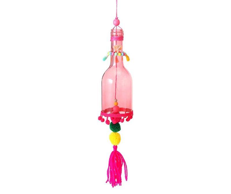 Závesná dekorácia Pompom Pink