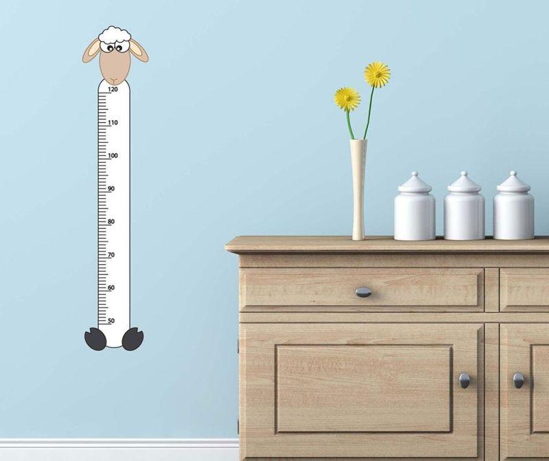 Naljepnica za mjerenje dječje visine Sheep