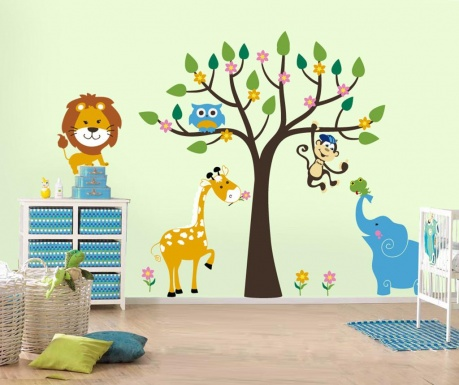 Samolepka Elephant Tree