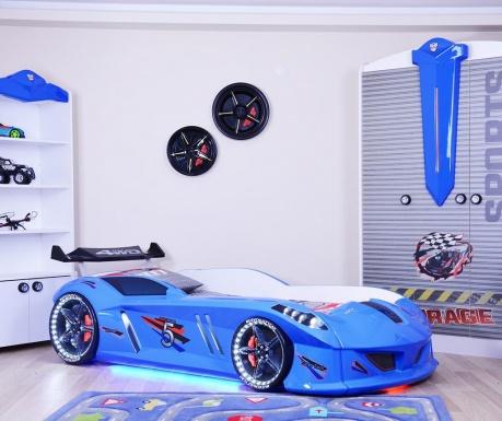 Otroški posteljni okvir Speedy Blue