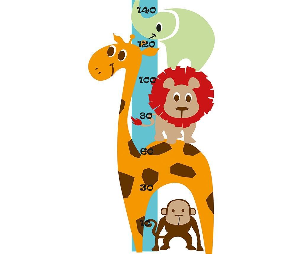 Nalepka za merjenje višine otrok Animals