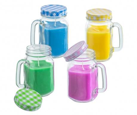 Σετ 4 κεριά Citronella Jar