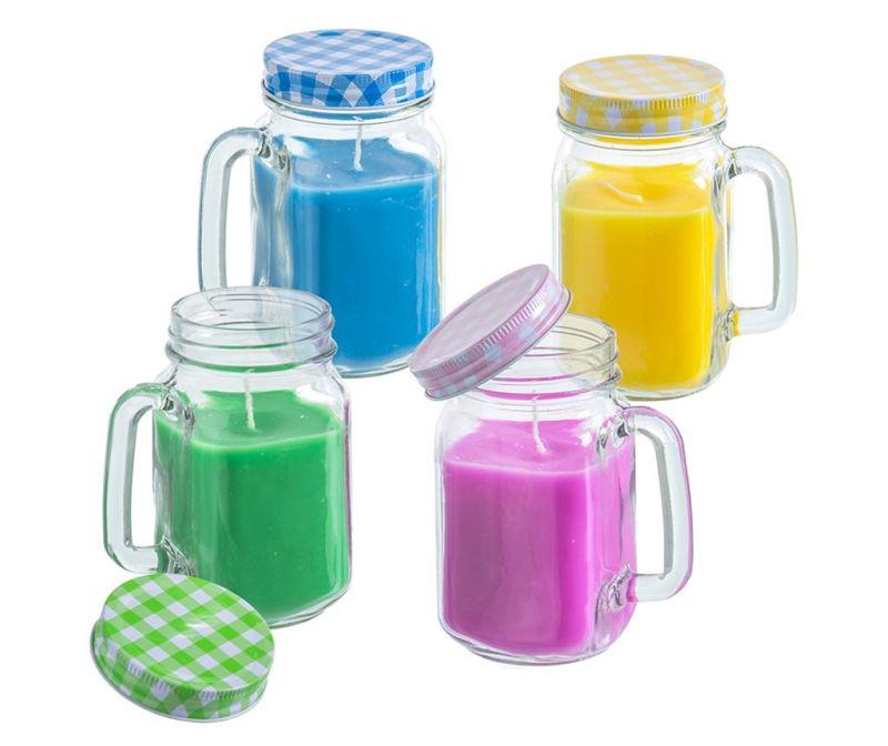 Sada 4 sviečok Citronella Jar