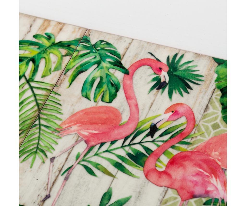 Sada 2 servírovacích podnosov Flamingo Party