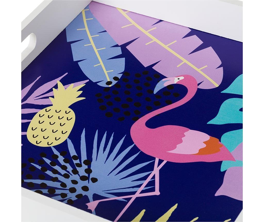 Sada 2 servírovacích podnosov Flamingo Toucan