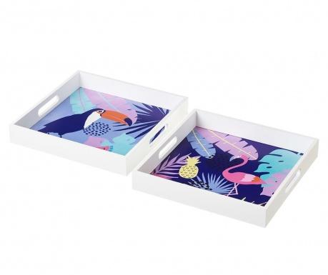 Σετ 2 δίσκοι σεβιρίσματος Flamingo Toucan
