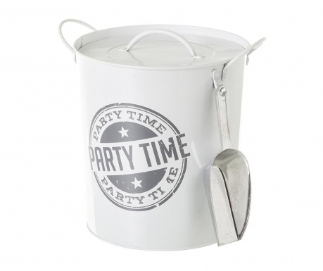 Vedierko na ľad s vekom Party Time White Grey 3 L