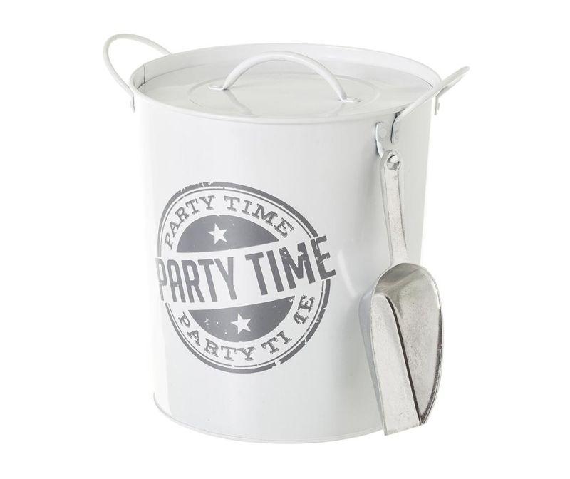 Vedierko na ľad s vekom Party Time White Grey 3 L