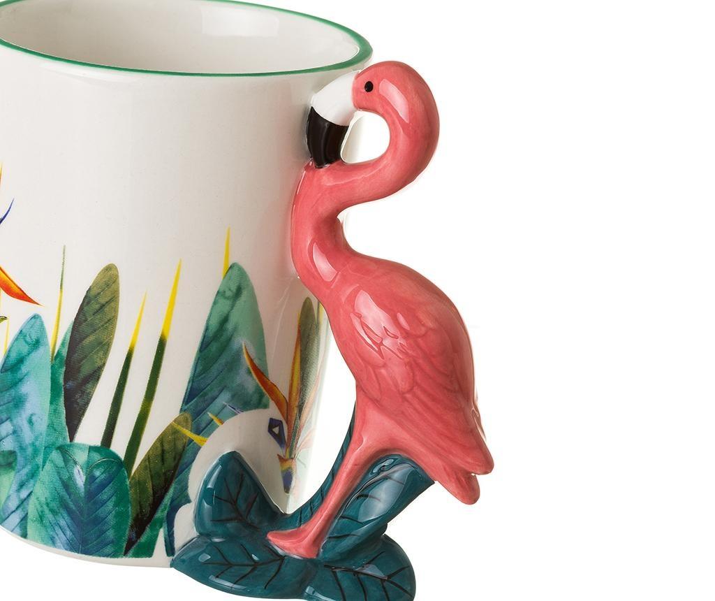 Sada 4 hrnčekov Flamingo 400 ml