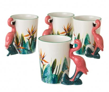 Σετ 4 κούπες Flamingo 400 ml