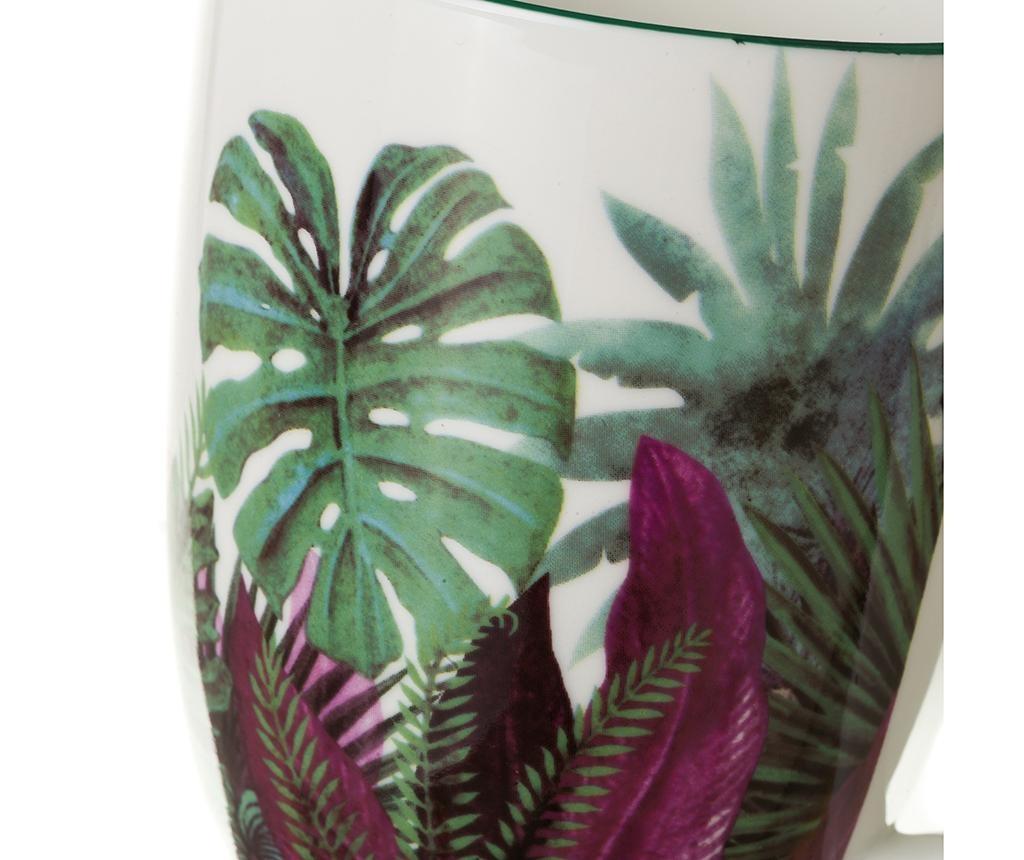 Sada 4 hrnčekov Tropical Leaves 445 ml