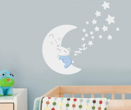 Samolepka Sleepy Moon Blue
