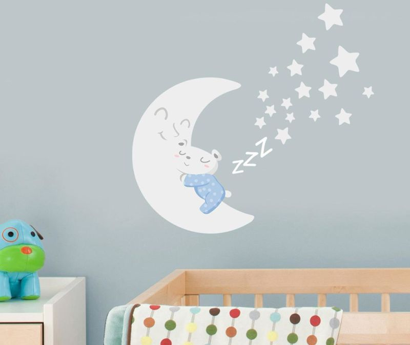 Naljepnica Sleepy Moon Blue