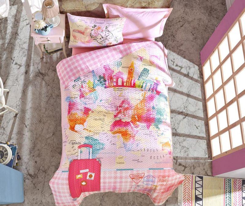 Спално бельо Double Ranforce Escape Pink