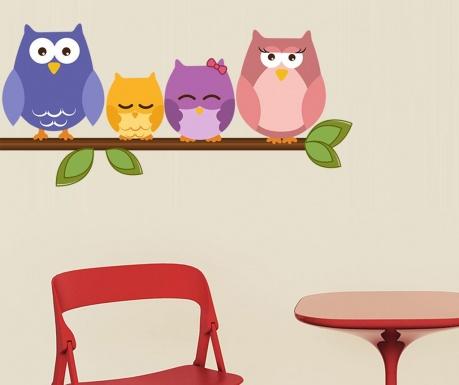 Samolepka Owl on Branch
