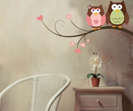 Samolepka Owls in Love
