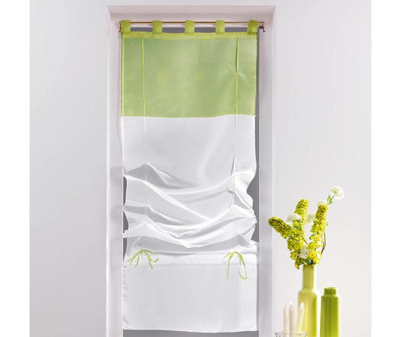 Zavesa Voile Duo White & Lime 45x180 cm