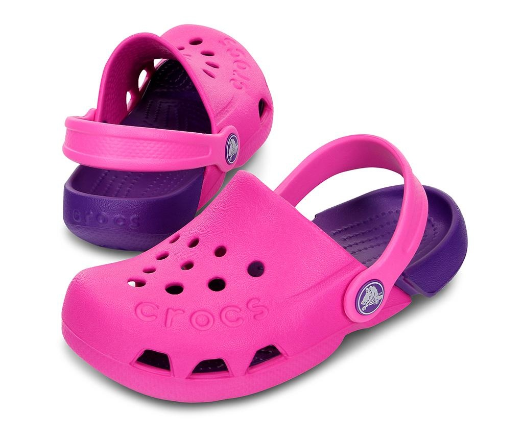 Saboti copii Crocs Neon Pink 30-31