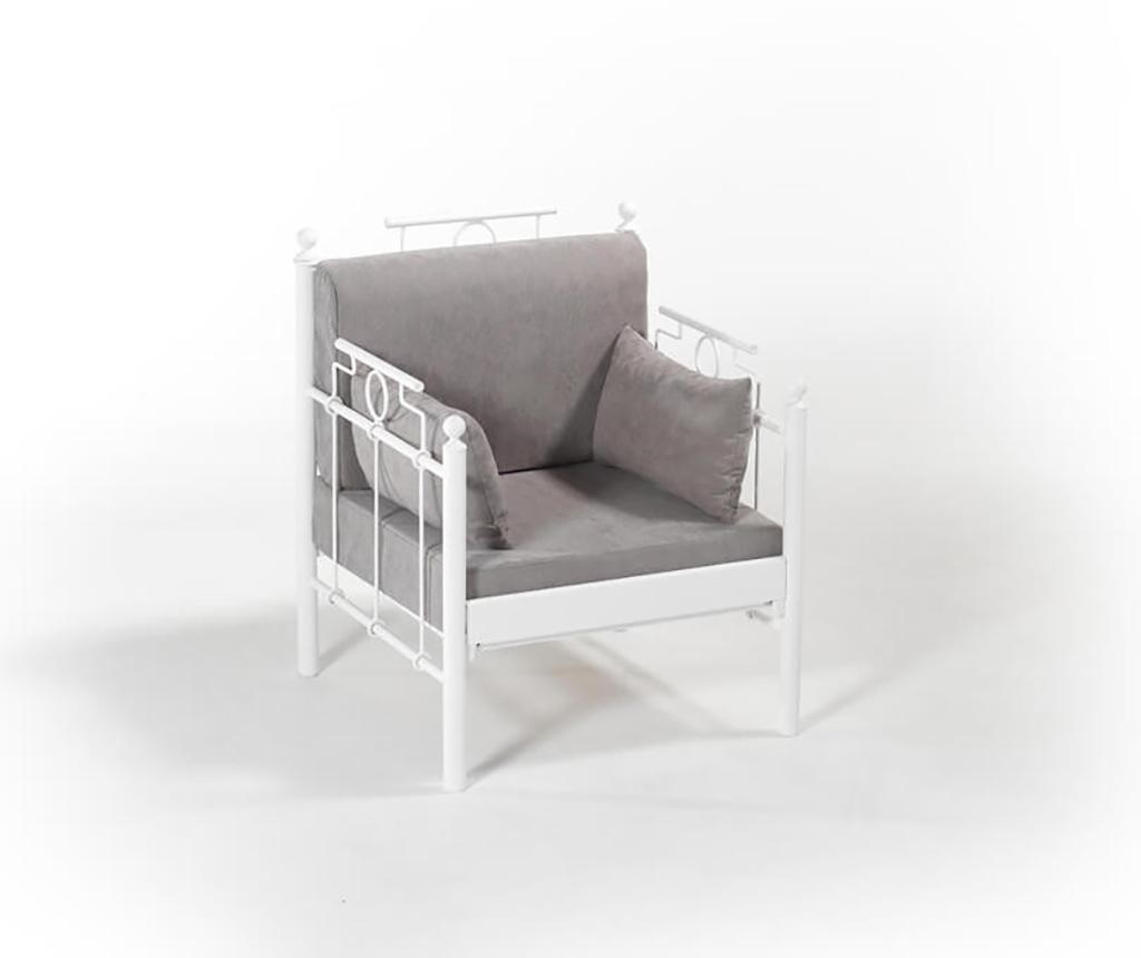 Set canapea 3 locuri si 2 fotolii pentru exterior Hatkus White Fume