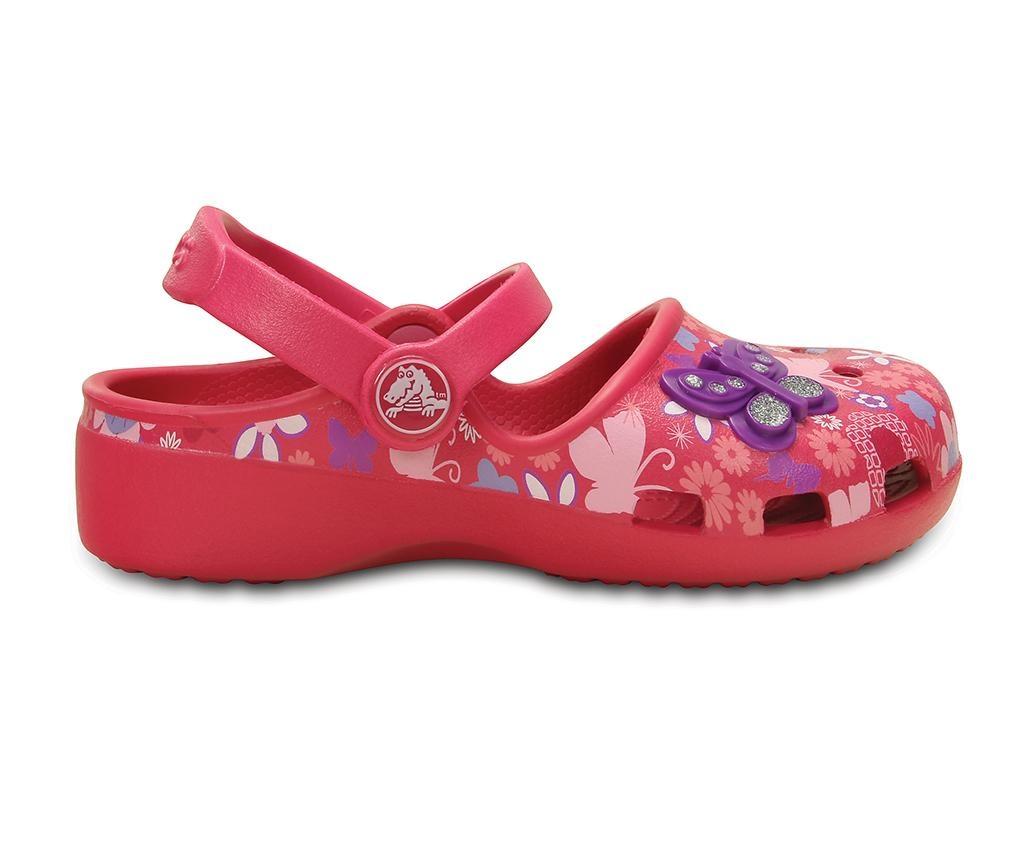 Saboti copii Crocs Butterfly Raspberry 24-25
