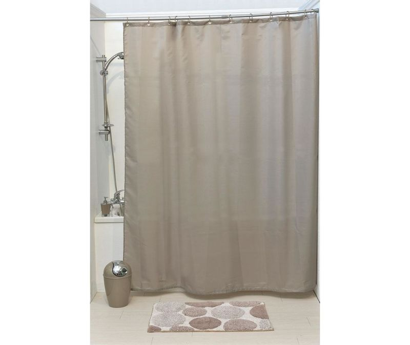 Zasłona prysznicowa Promo Taupe 180x200 cm