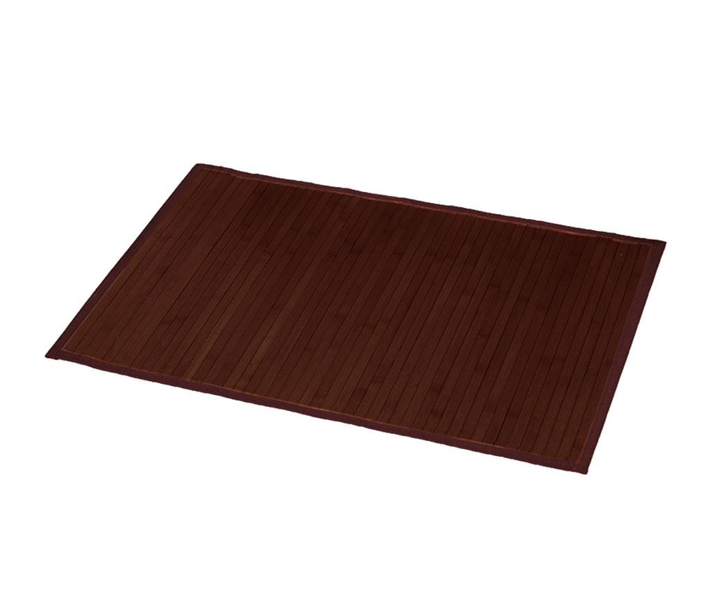Předložka do koupelny Lines Brown 50x80 cm
