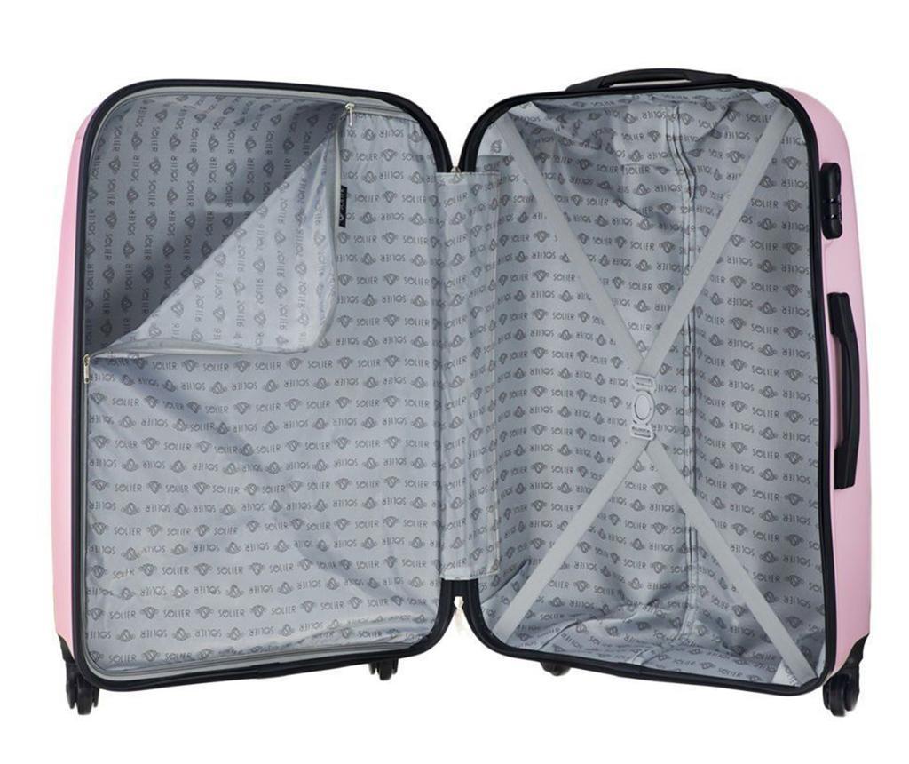 Putna torba s kotačićima Steady Pink 45 L