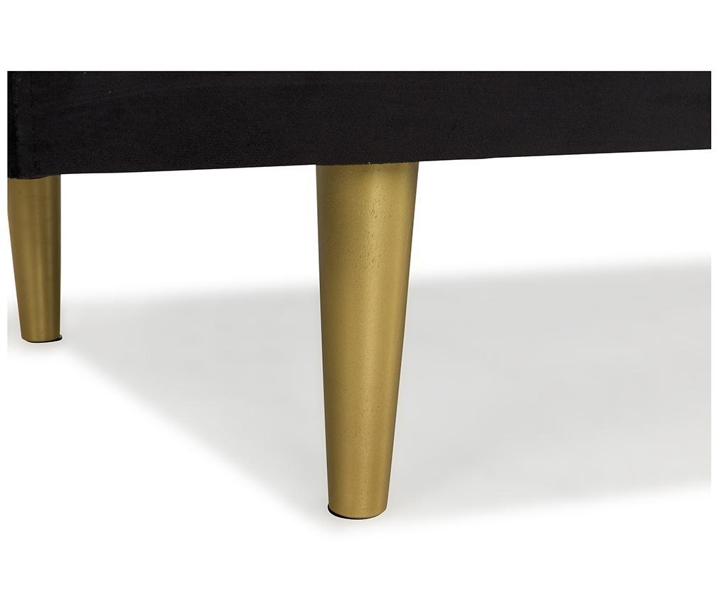 Ležaljka za dnevni boravak diYana Black And Golden Legs