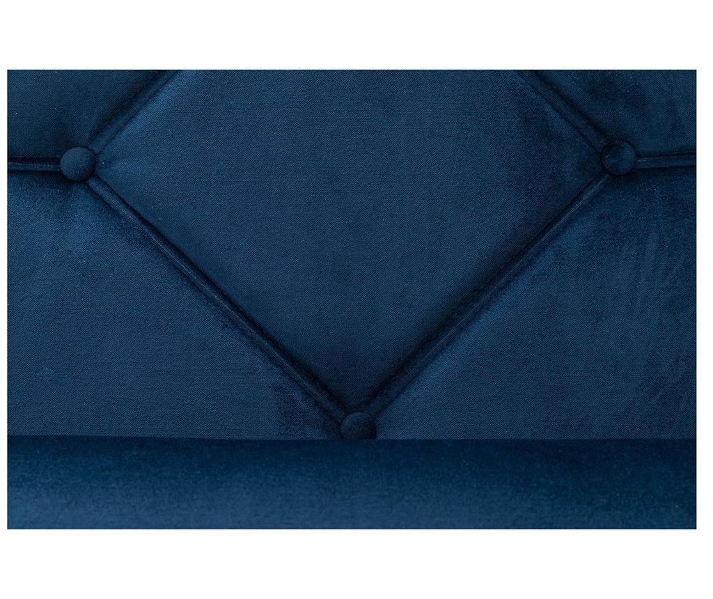 Ležaljka za dnevni boravak diYana Petrol Blue And Golden Legs