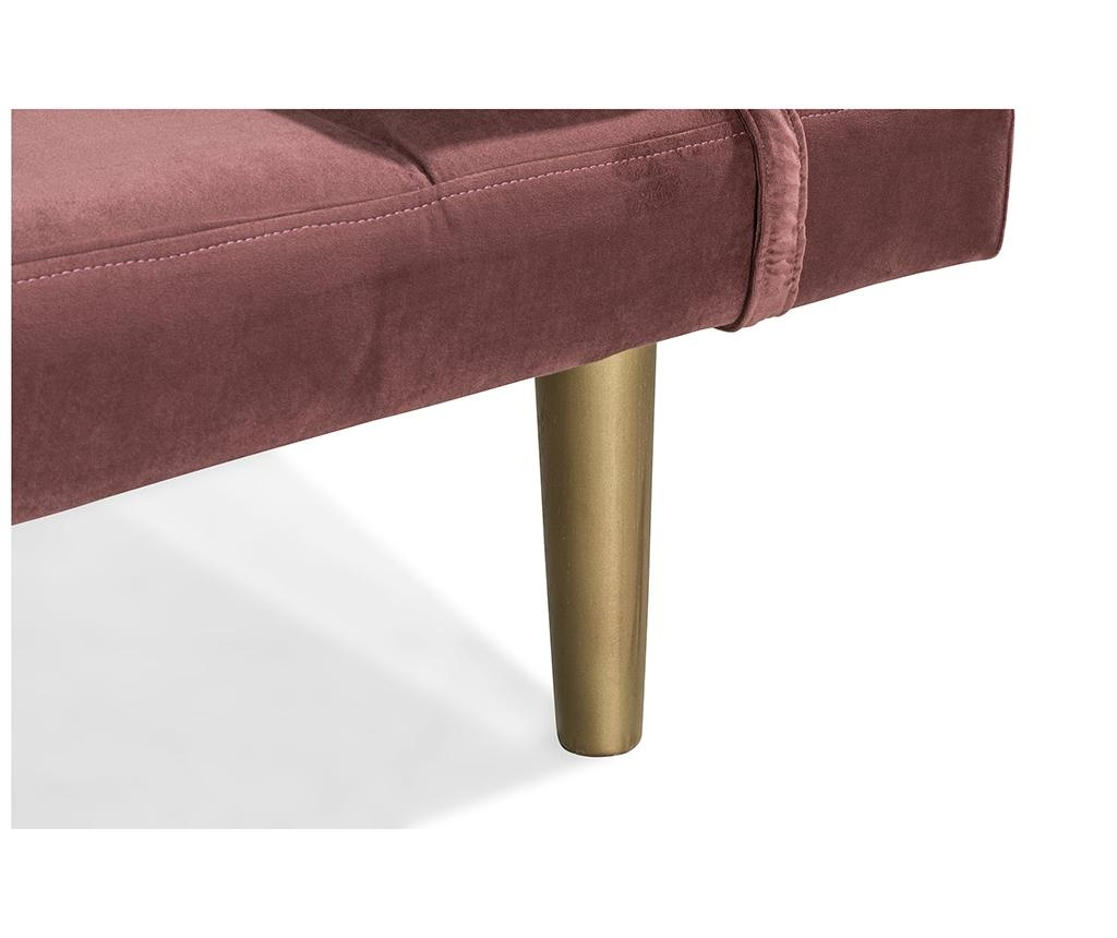 Ležaljka za dnevni boravak diYana Rust Pink And Golden Legs