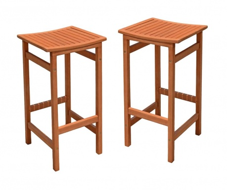 Σετ 2 καρέκλες μπαρ εξωτερικού χώρου Palmdale