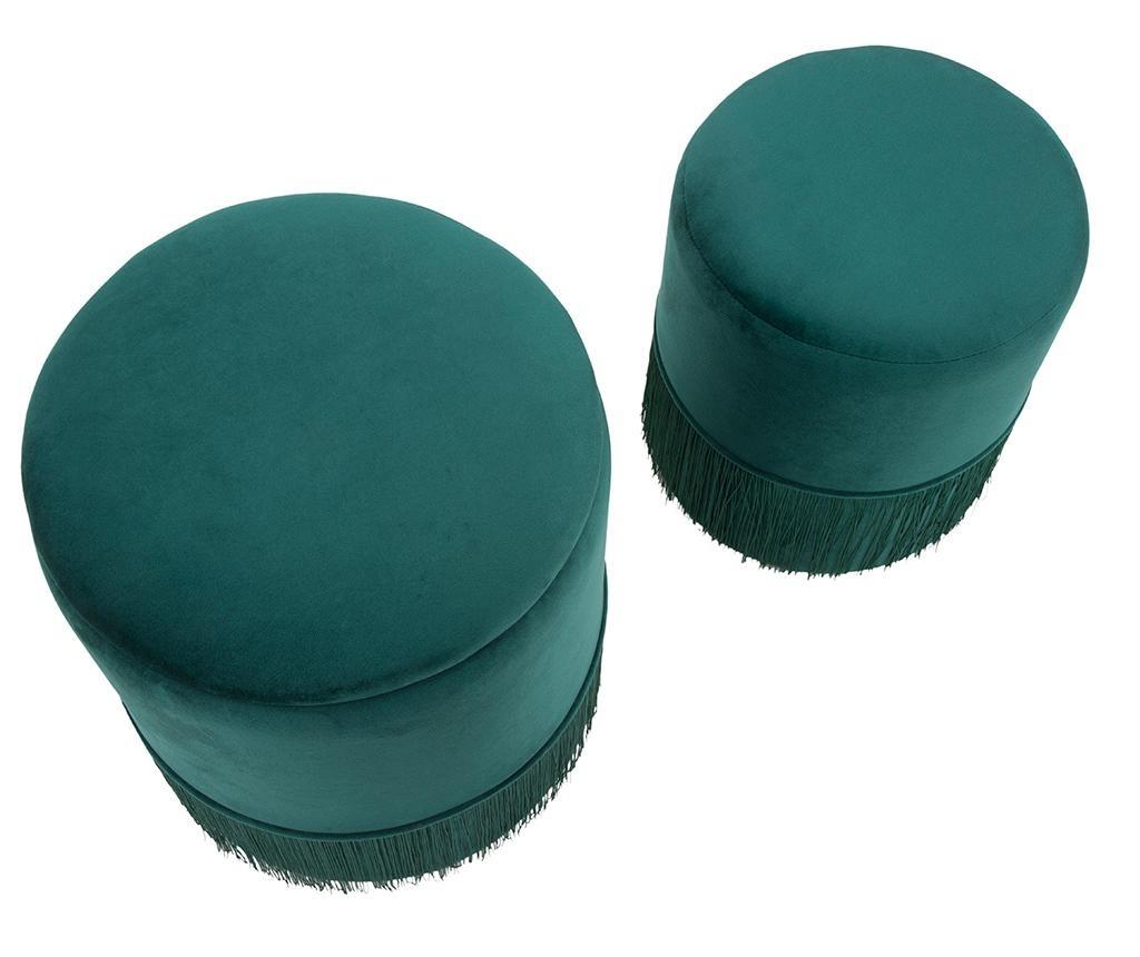 Set 2 taburete Lines Green