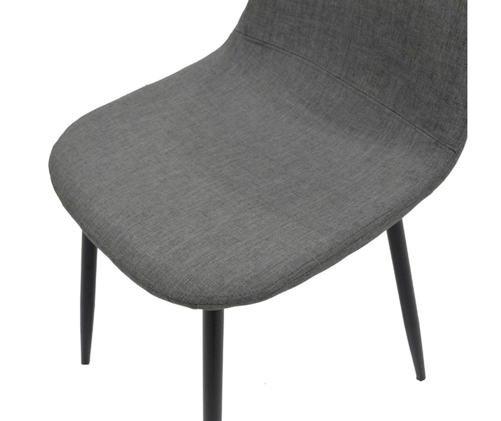 Stolica Bella Fabric Grey Black Legs