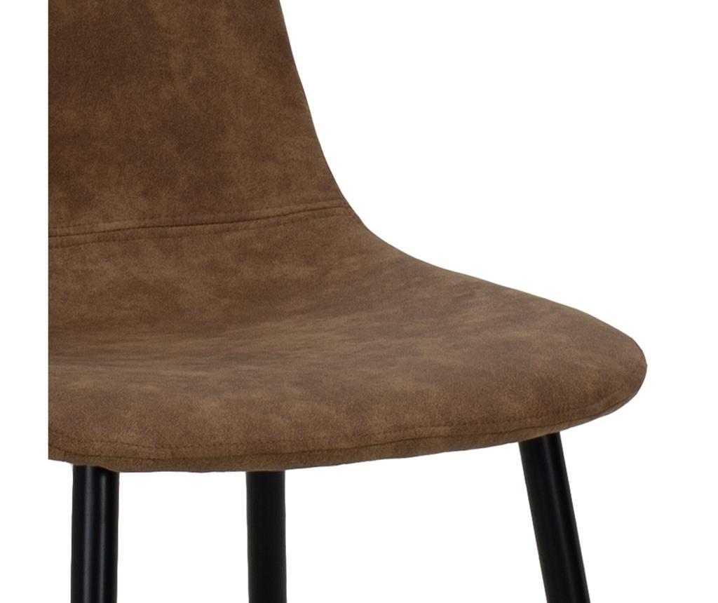 Bella Leather Brown Black Legs Szék