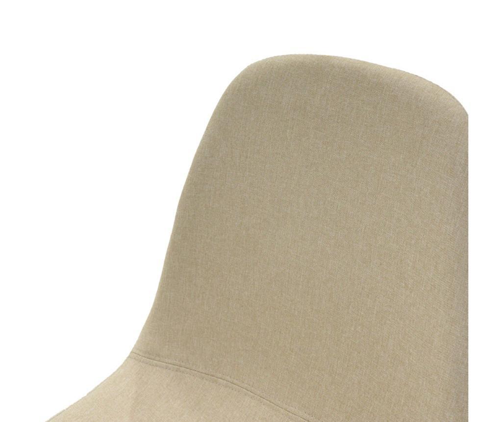 Stol Bella Fabric Beige Oak Legs