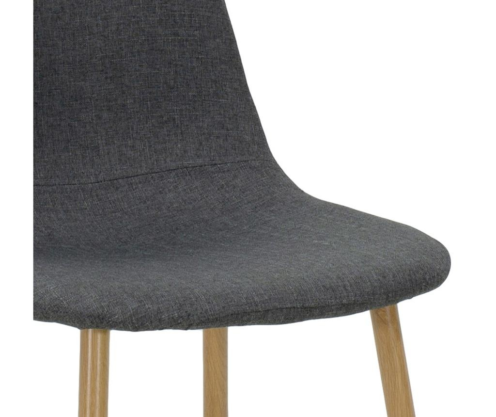 Stolica Bella Fabric Grey Natural Legs