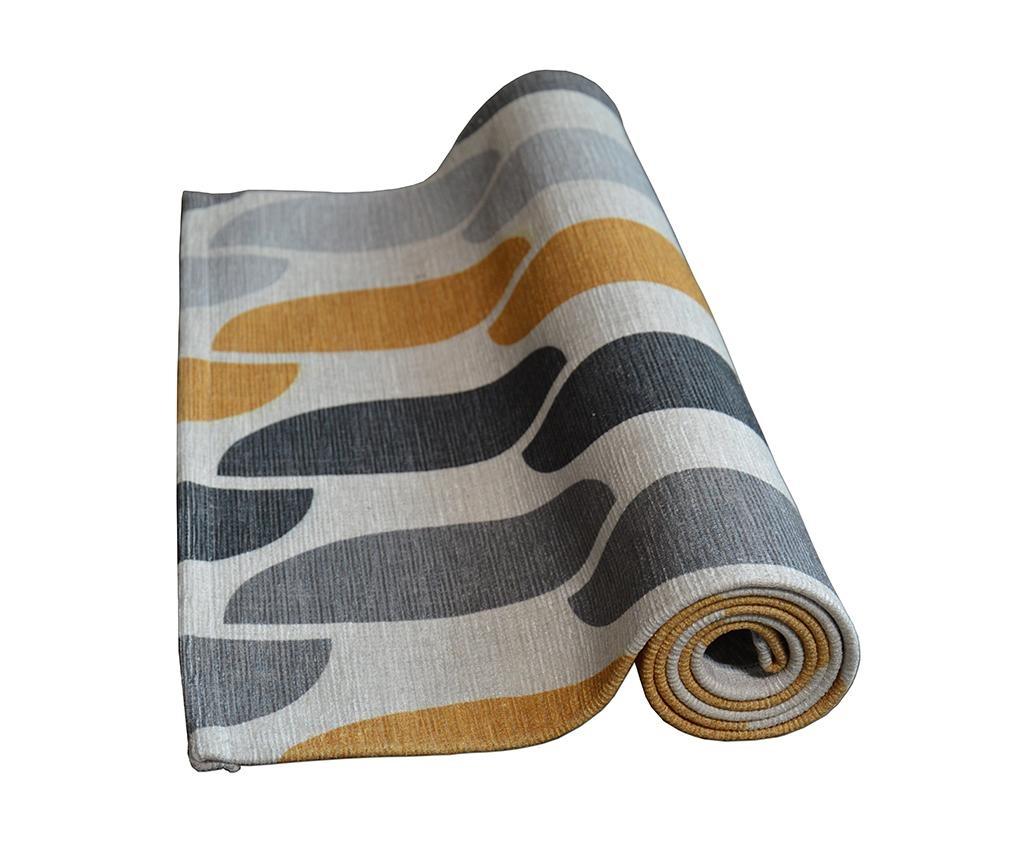 Tepih Halfmoon Grey Ochre 60x115 cm