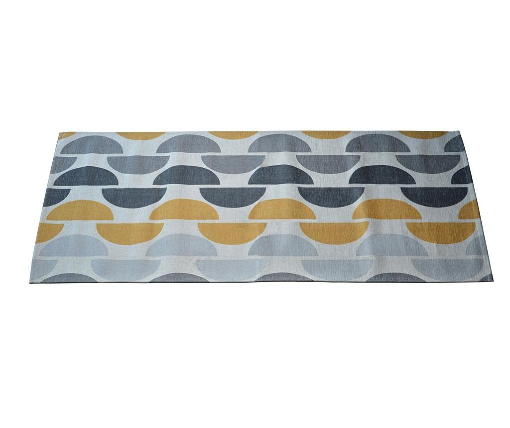 Tepih Halfmoon Grey Ochre 60x140 cm