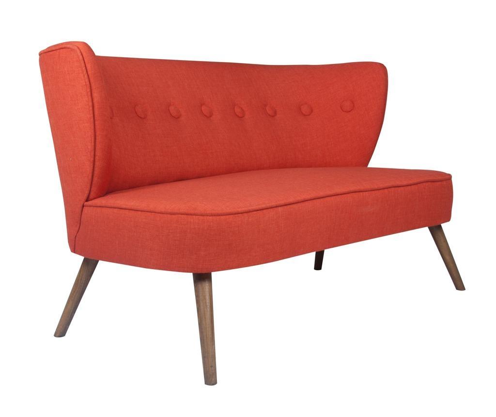 Canapea 2 locuri Josephine Brick Red
