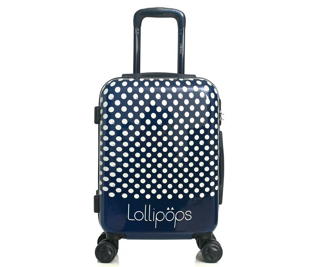 Set - kovček na kolesih in toaletna torba Jonquille Blue