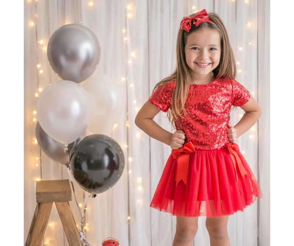Otroška obleka Kylie Red 3 let