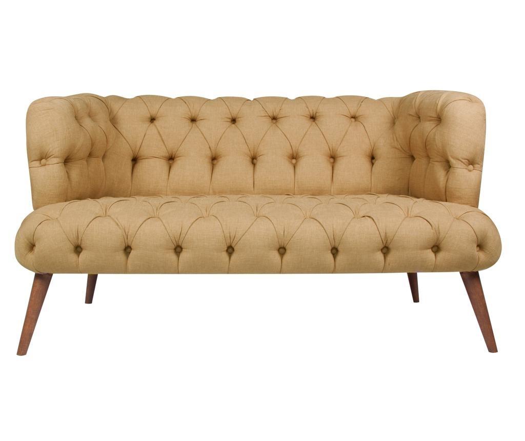 Canapea 2 locuri Beatrice Light Brown