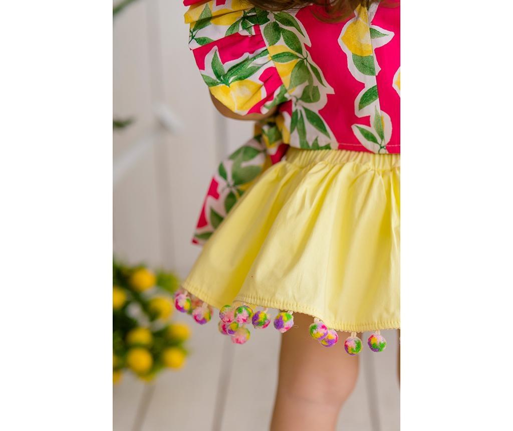 Dječji set bluza i suknja Lemonade Fuchsia 3 god.