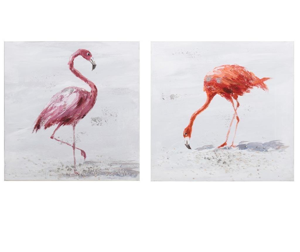 Комплект 2 картини Flamingo 30x30 см