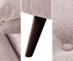 Coltar stanga Beaver Powder Pink