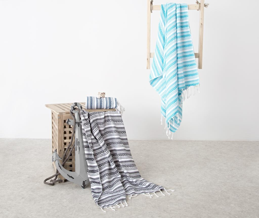 Кърпа за баня Pestemal Velovis Turquoise 90x170 см