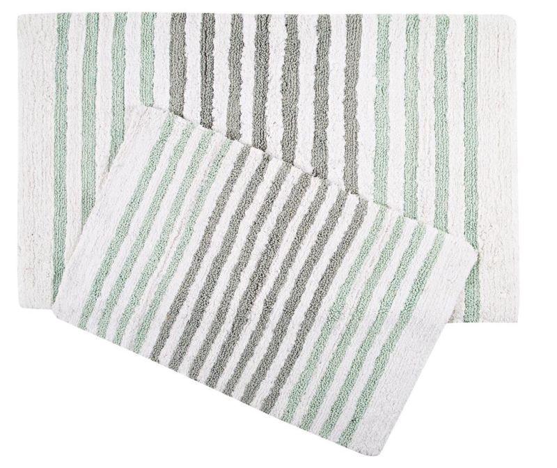 Set 2 kupaonska tepiha Grenada Green Grey
