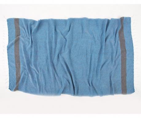 Πετσέτα μπάνιου Pestemal Teos Blue 90x170 cm