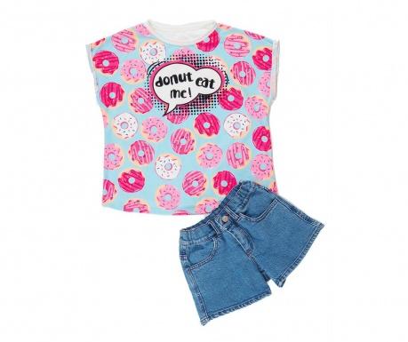 Σετ παιδική κοντομάνικη μπλούζα και παντελόνι Donut
